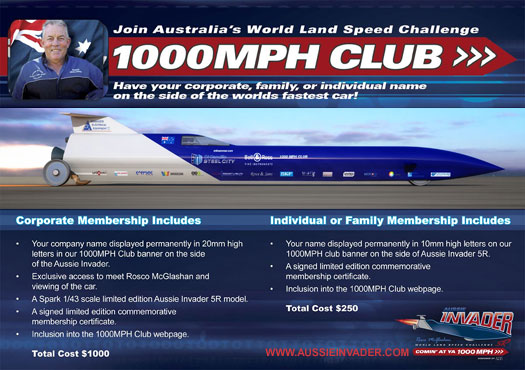 Aussie Invader 1000MPH Club Flyer525
