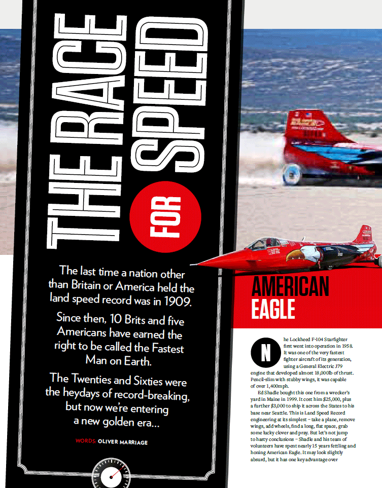 Top Gear magazine article March 2014 - Page 1